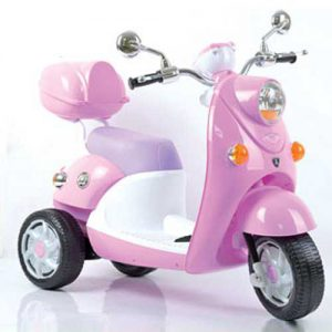 Scooter Elettrico rosa 6v tre ruote