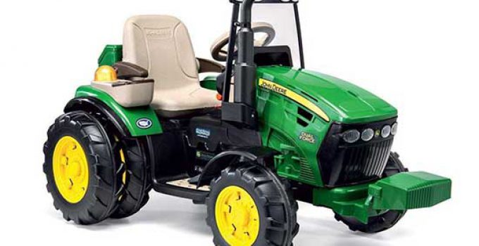 Peg Perego John Deere Dual Force Trattore Elettrico Full Optional IGOR0077